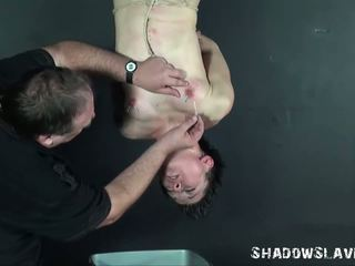 Needle torture of suspended asian slaveslut Mei