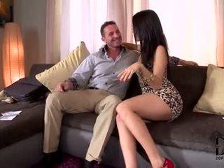 mooi brunette video-, ideaal orale seks thumbnail, deepthroat