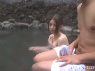 Bosomy Chinese Sweetie Has Got Laid By Her BF Outside