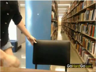 Stripping in Public Library Hidden Cam