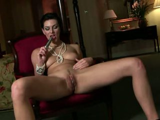 Horny alluring Anita Queen toying her awesome slits until she hits orgasm