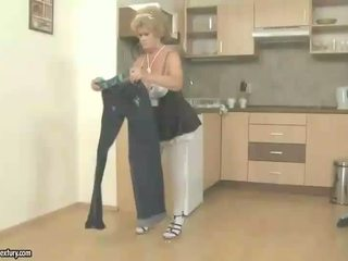 Naughty old maid gets fucked by boy