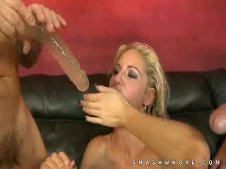 Two Cocks Slap Zoe Holloway On The Face