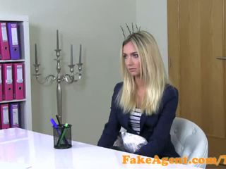 FakeAgent Stunning blonde fashion student fucks in Casting