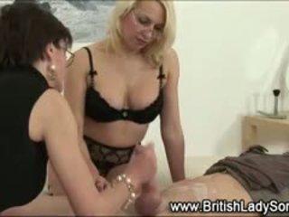 british, cumshot, femdom