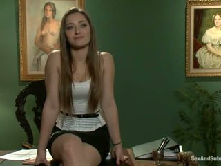 Superb dani daniels has constrained 올라 과 banged onto a 테이블