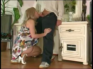 Russian Mature Fuck with a Guy, Free Pantyhose Porn Video 36