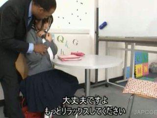 Nhật bản nư sinh gave handjob