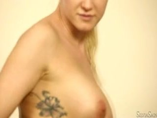 Blonde Bimbo Victoria Reveals Her Tattoo In Her Without The Stitch Onto Casting