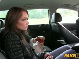 Sophie fucked in public with the driver