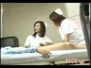 Nasty nurse gives blowjob to patient