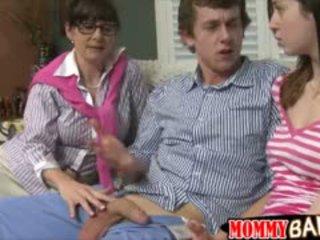 blowjob, senas + young, threesome