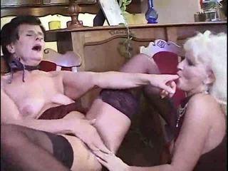 Lesbian granny having party Video