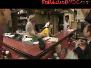 Sushi Bar Japanese Public Sex 5