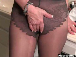 cougar, gilf, tights