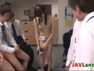 Japonesa gaja getting facials em o escritório