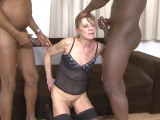 Interracial Porn Granny Dped by Two Black Men Anal and