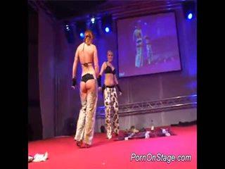 2 Girls Inside Lesbie Showcase With Public