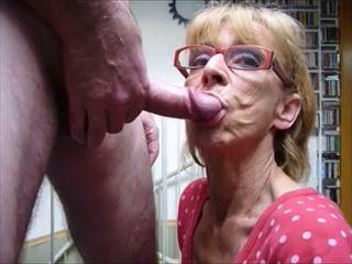 blowjobs, cum di mulut, nenek