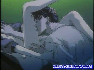 wesoły, rysunek, hentai