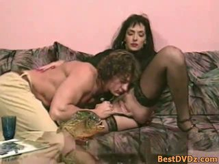 Anal craving MILF in black stockings
