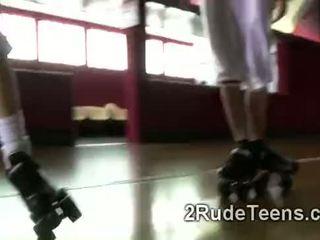 Drsné sex s vysoká škola roller derby dievča