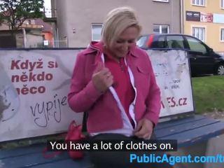 PublicAgent Short haired blonde fuckes...