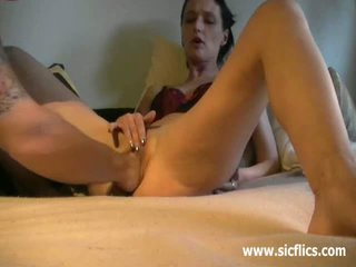 Skinny housewife is fisted by her huge husband