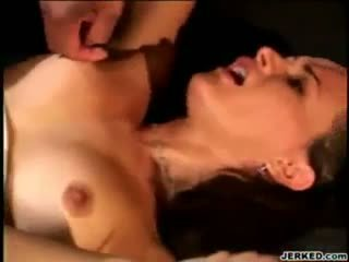 Milf fucked in threesome interracial