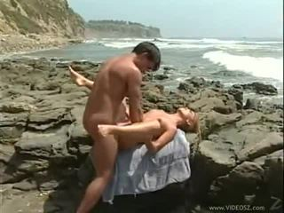 outdoor-sex, große brüste, tittenfick
