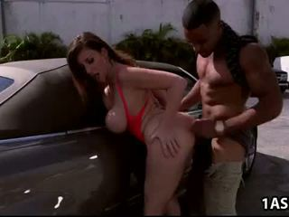 سيارة غسل مع دهن الحمار ناضج sara jay