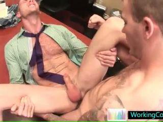 Nopietns gejs pakaļa pounding uz the birojs