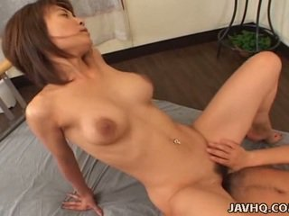 Huge Bust Nymph Miri Sugihara Playing Cock!