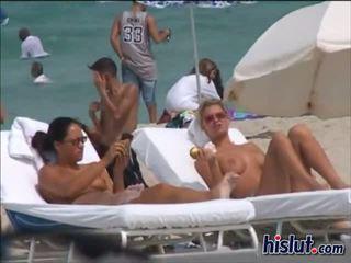 naked, beach, babes