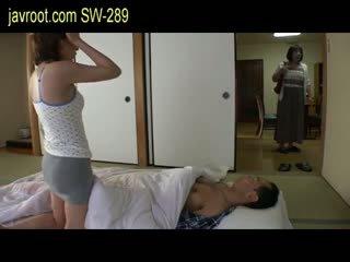 japansk, baben, små bröst