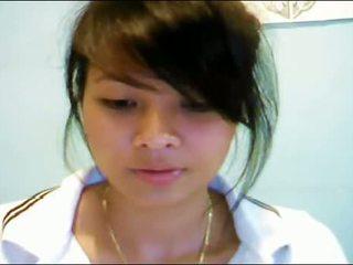 Asiática adolescente en webcam