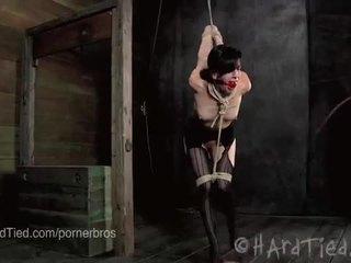Elise graves ist ravaged im rope bondage