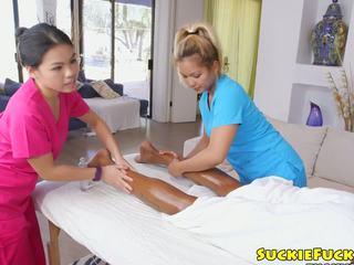 japanese, threesomes, massage