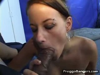 Preggy playgirl getting darksome meat