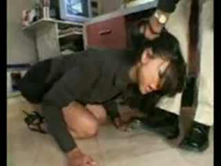 Stupid employee brutally destroyed door frustrated baas
