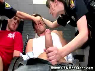 CFNM police cops are sucking Cocks