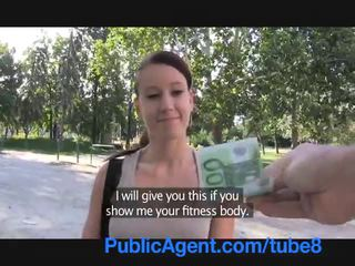 Publicagent Sexy fitness instructor fucking for money