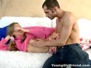 Winsome golden haired teen gal trinity acquires rosa muschi shaged