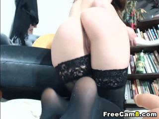 Cute Babe Dildo on her Tight Pussy
