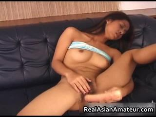 Asian Cutie Acquires Hawt Time With Her Dildo