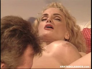 Clasic Wench Rebecca Bardoux Enjoying A Warm Lick On Her Snatch In Daybed