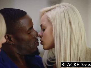 BLACKED First Interracial Foursome For Elsa Jean And Zoey Monroe - Porn Video 591