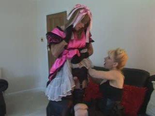cumshots, britský, femdom