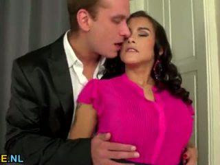 brunette, hardcore sex, bigtits