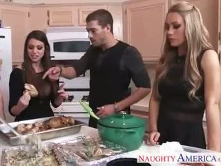 Gyzykly cuties brooklyn chase, nicole aniston and tomus brielle gets nailed